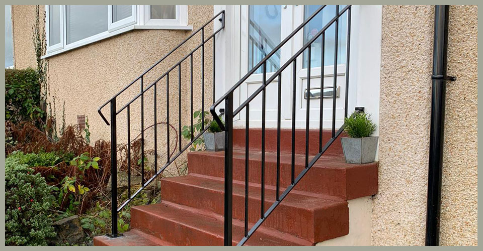 Iron Handrails Glasgow Domestic, Outdoor Handrails For Steps Uk